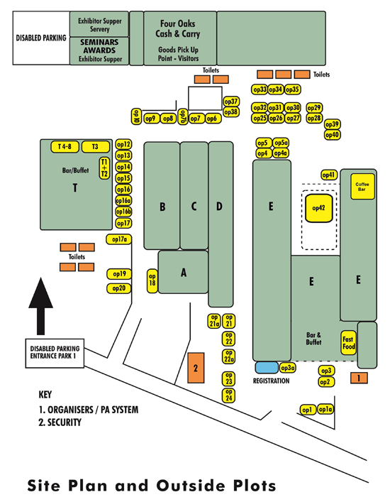 Four oaks trade show 2018 site plan for Trade show floor plan